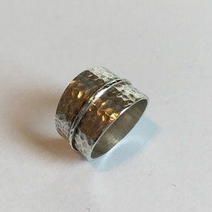 NWOT Sterling Silver Ring - Hammered Design